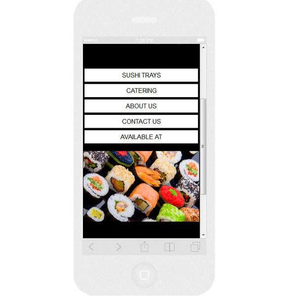 Wersja mobilna strony WWW Dinglesushi