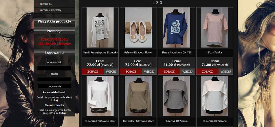 Emi Boutique - lista produktów w sklepie