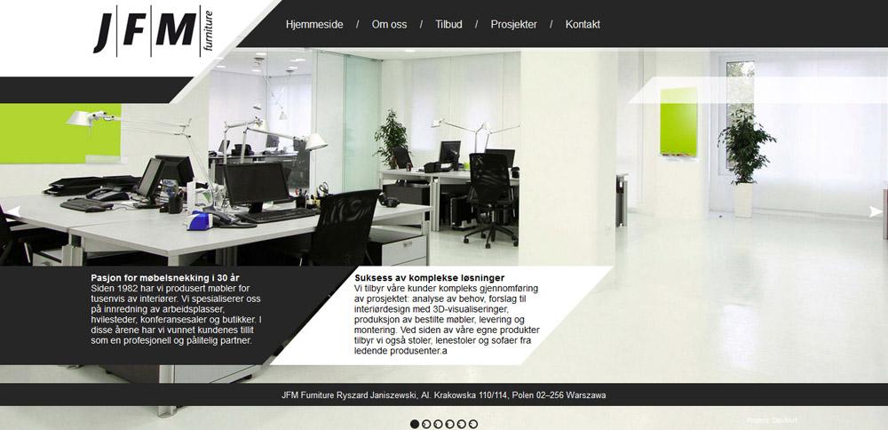 Strona internetowa JFM na rynek Norweski