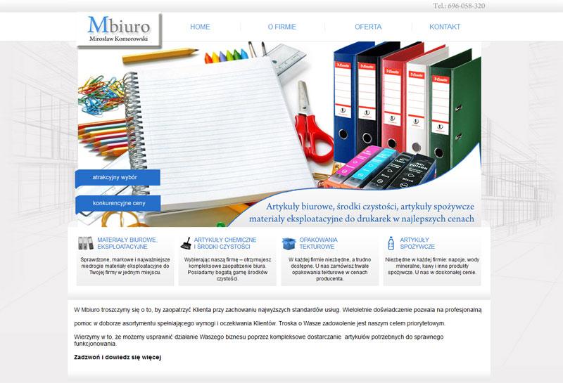 Mini strona www - MBiuro