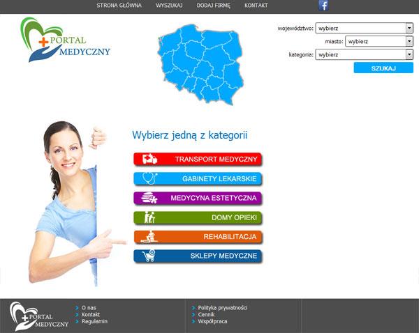 Portal Medyczny - rozbudowa strony www