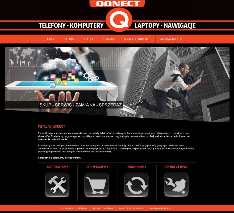 Qonect - strona startowa