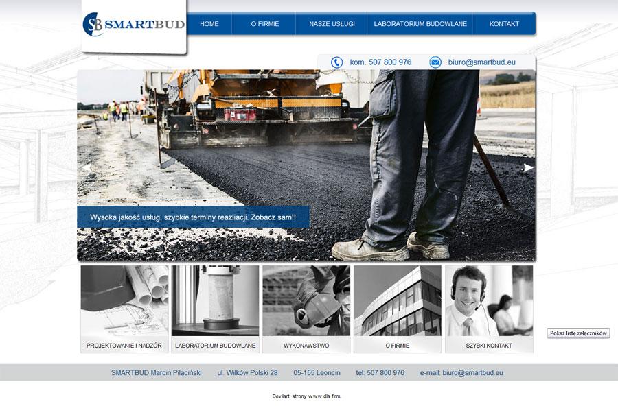 SmartBud - przykład strony www