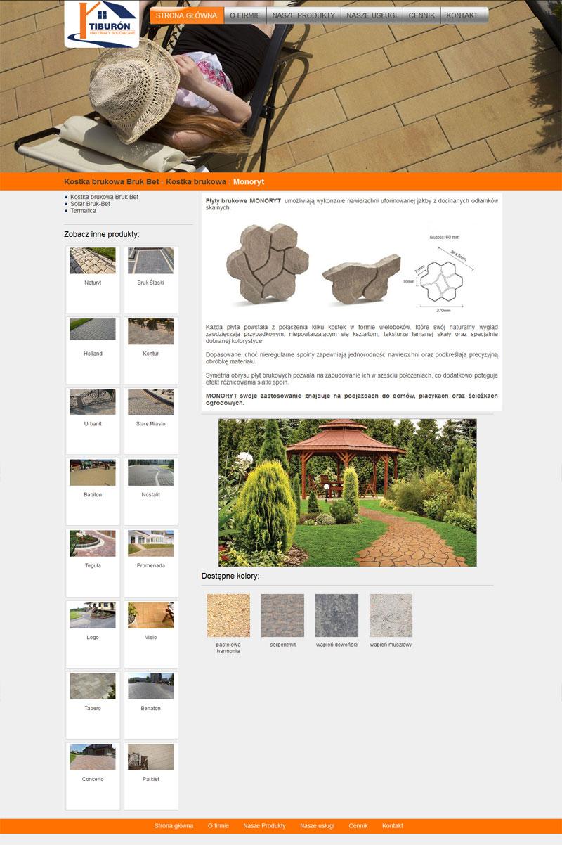 Widok produktu na stronie Tiburón